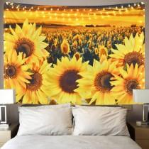 Ulticool - Zonnebloem Zon Zomer Bloemen Natuur - Wandkleed - 200x150 cm - Groot wandtapijt - Poster