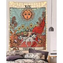 Ulticool - Zon Natuur Bloemen Tarot Horoscoop Vintage Retro  - Wandkleed - 200x150 cm - Groot wandtapijt - Poster