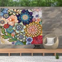 Ulticool - Bloemen Natuur Kunst - Wandkleed  Poster - 200x150 cm - Groot wandtapijt -  Tuinposter Tapestry