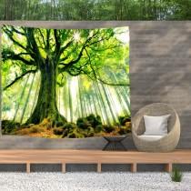 Ulticool - Boom Zon Licht Bomen Natuur - Wandkleed  Poster - 200x150 cm - Groot wandtapijt -  Tuinposter Tapestry