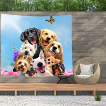 Ulticool - Hond Dieren Honden - Wandkleed  Poster - 200x150 cm - Groot wandtapijt -  Tuinposter Tapestry