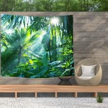 Ulticool - Jungle Planten Zon Natuur - Wandkleed  Poster - 200x150 cm - Groot wandtapijt -  Tuinposter Tapestry