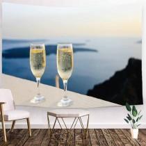 Ulticool - Strand Alcohol Drank Romantisch - Wandkleed - 200x150 cm - Groot wandtapijt - Poster