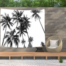 Ulticool - Strand Natuur Retro Vintage Palmboom Kunst - Wandkleed  Poster - 200x150 cm - Groot wandtapijt -  Tuinposter Tapestry