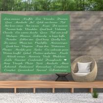 Ulticool - Tekst Positief Denken Zen Geluk Zelfvertrouwen Cadeau - Wandkleed  Poster - 200x150 cm - Groot wandtapijt -  Tuinposter Tapestry