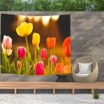 Ulticool - Tulpen Bloemen Natuur - Wandkleed  Poster - 200x150 cm - Groot wandtapijt -  Tuinposter Tapestry
