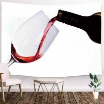 Ulticool - Wijnglas Wijn Horeca Alcohol - Wandkleed - 200x150 cm - Groot wandtapijt - Poster