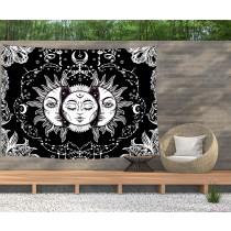 Ulticool - Zon Maan Zodiac Tarot Natuur Bohemian - Wandkleed  Poster - 200x150 cm - Groot wandtapijt -  Tuinposter Tapestry