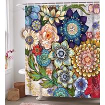 Ulticool Douchegordijn - Bloemen Natuur Kunst - 180 x 200 cm - met 12 ringen - Kleurrijk
