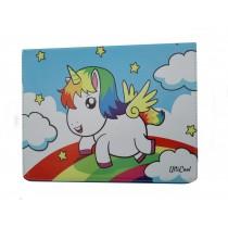 iPad Air 1 case hoesje Eenhoorn Unicorn Regenboog