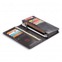 Universele telefoonhoes portemonnee met 11 kaarthouders zwart