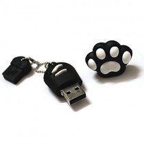 USB-stick Kattenpootje Zwart / wit 8GB