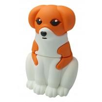 USB-stick schattige hond bruin/wit 8GB