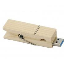 USB-stick wasknijper hout 16GB