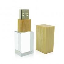 USB-stick glas en hout 8GB