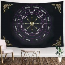 Ulticool - Zodiac Signs Astrologie Gothic Mandala - Wandkleed - 200x150 cm - Groot wandtapijt - Poster