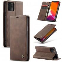 Zacht vintage hoesje / case met 2 kaarthouders en geldsleuf geschikt voor iPhone 11 Pro Max bruin