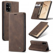 Samsung Galaxy S20+ zacht vintage hoesje / case met 2 kaarthouders en geldsleuf bruin