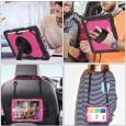 iPad 10.2 (2019 & 2020) case / hoes met screenprotector, handriem en schouderriem voor Horeca en Bouw Roze