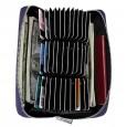 Dasaja RFID portemonnee met 36 kaarthouders donker blauw