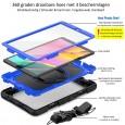 Samsung Galaxy Tab A 10.1 (2019) case met screenprotector, handriem en schouderriem voor Horeca en Bouw Blauw
