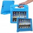 iPad 9.7 (2017) / (2018) kinderhoes blauw (ook geschikt voor iPad Air 1) met ingebouwde screenprotector