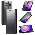 Samsung Galaxy S10 rustiek leren boekhoesje zwart