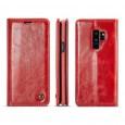 Samsung Galaxy S9+ rustiek leren boekhoesje rood