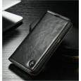 Samsung Galaxy Note 7R rustiek leren boekhoesje zwart